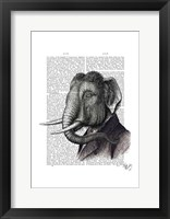 Elephant Portrait Framed Print