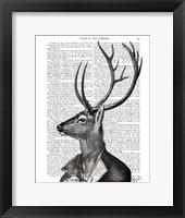 Deer Portrait 2 Framed Print