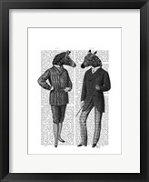 Two Zebra Gentlemen Framed Print