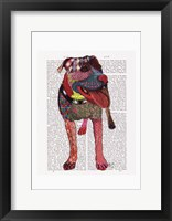 Framed Staffordshire Bull Terrier - Patchwork
