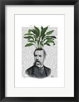 Aspidistra Head Plant Head Framed Print