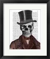 Framed Skeleton Gentleman and Top hat
