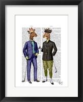Golfing Giraffes Framed Print