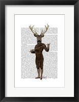 Fencing Deer Full Framed Print
