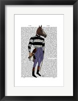Horse Racing Jockey Full Framed Print