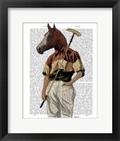 Polo Horse Portrait Framed Print