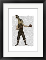 Boxing Hare Framed Print