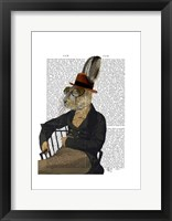 Horatio Hare On Chair Framed Print