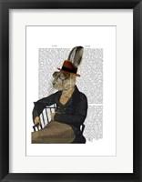 Horatio Hare On Chair Framed Print