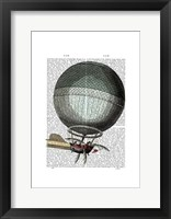 Blanchard Vintage Hot Air Balloon Framed Print