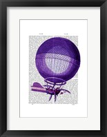 Blanchards Hydrogen (Purple) Hot Air Balloon Framed Print