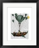Diligenza Per La Luna Framed Print