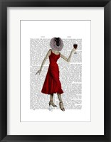 Monkey with Wine Framed Print