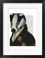Badger The Hero I Framed Print