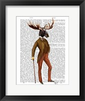 Moose In Suit Full Framed Print