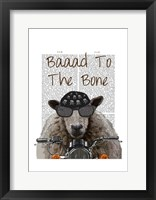 Baaad To the Bone II Framed Print