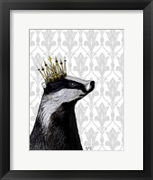 Badger King II Framed Print