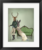 Framed Mr Deer and Mrs Rabbit