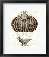 Baroque Balloon with Clock Framed Print