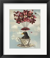 Blackbird In Teacup Framed Print