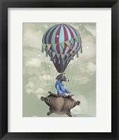 Flying Zebra Framed Print
