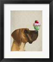 Great Dane and Cupcake Framed Print
