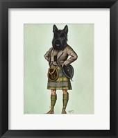 Framed Scottish Terrier in Kilt