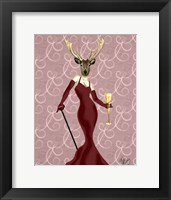 Glamour Deer in Marsala Framed Print
