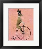 Greyhound on Black Penny Farthing Framed Print