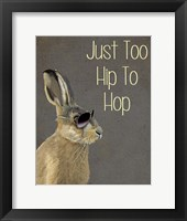 Too Hip To Hop Grey Framed Print