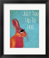 Too Hip To Hop Blue Framed Print