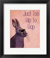 Too Hip To Hop Pink Framed Print