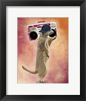 Framed Meerkat and Boom Box