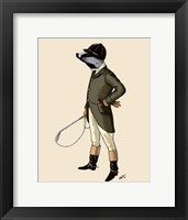 Badger The Rider Full II Framed Print