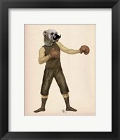 Boxing Bulldog Full Framed Print