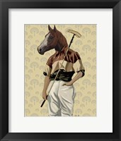 Polo Horse Portrait Framed Print