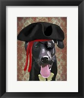Framed Black Labrador Pirate Dog