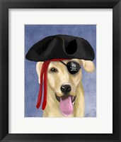 Yellow Labrador Pirate Framed Print