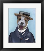 Framed Jack Russell in Boater