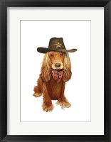 Framed Cocker Spaniel Cowboy