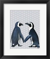 Penguins In Love Framed Print