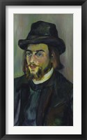 Framed Portrait of Erik Satie (1866-1925), 1892-93