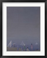 Framed Three Sailboats
