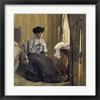 Framed Woman Sewing, 1905
