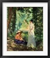 Framed Two Women in a Landscape