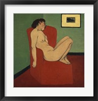 Framed Woman Seated in an Armchair