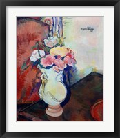 Framed Vase of Flowers, 1938