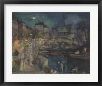 Framed Harbor of Marseille, 1929