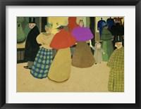 Framed Les Passants Street Scene, 1895