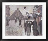 Framed Paris - A Rainy Day, 1877